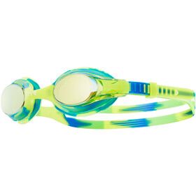 TYR Swimple Tie Dye Mirrored Laskettelulasit Lapset, gold/green